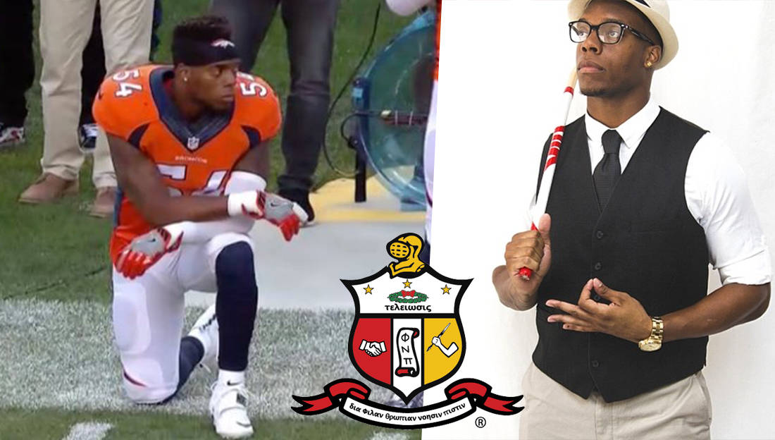 Bronco S Brandon Marshall Of Kappa Alpha Psi Joins His
